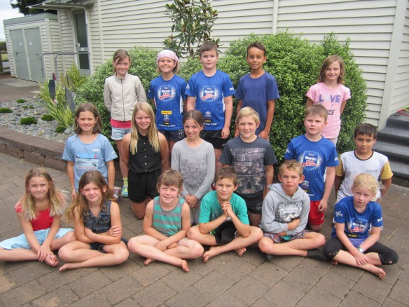 Roto swimmers in the Rural Schools' Team.